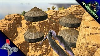 Ark: Ragnarok:   RAGNAROK DESERT BIOME PLATFORM BASE!! TREE PLATFORM SETUP!