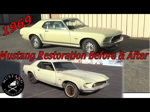 Mustang Restoration Before And After New Lime Mustang