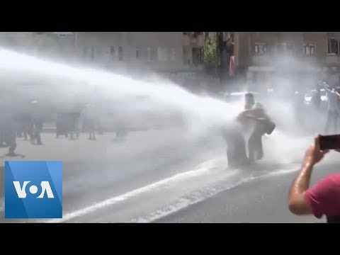 Turkey Police Use Water Cannon Against Protesters