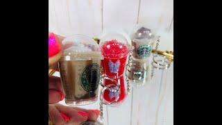 DIY Mini Coffee Cup keychains