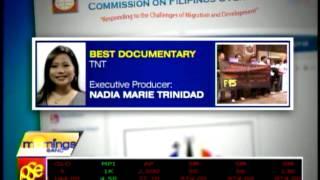 Nadia Trinidad's 'TNT' wins Best Documentary at MAM Awards