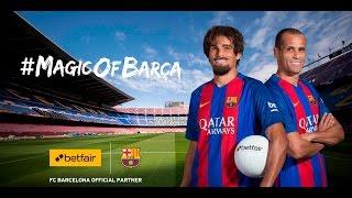 """رياضة  بالفيديو.. ريفالدو """"المتنكر"""" يفاجئ مشجعي برشلونة"""