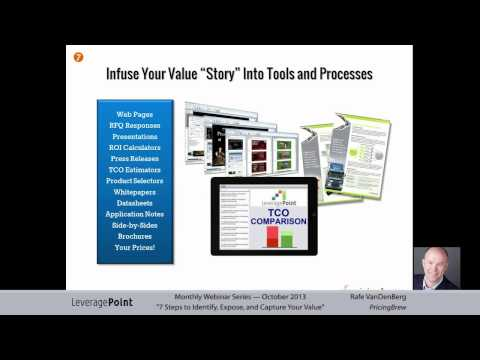 The Seven Steps to Identify, Expose and Capture Your Value Recording