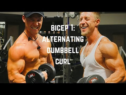 BICEP MUSCLE GROWTH : ALTERNATING DUMBBELL CURLS