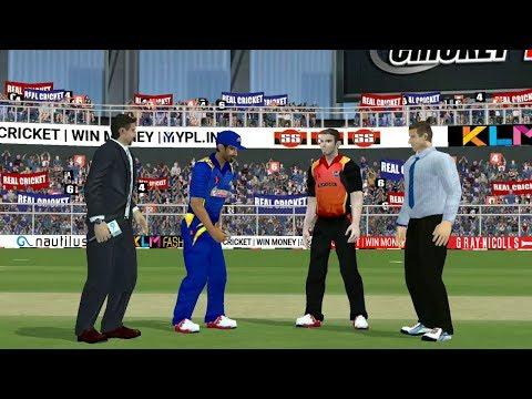 12th April IPL 11 Sunrisers Hyderabad V Mumbai Indians real cricket 2018 aNdroid IOS Gameplay