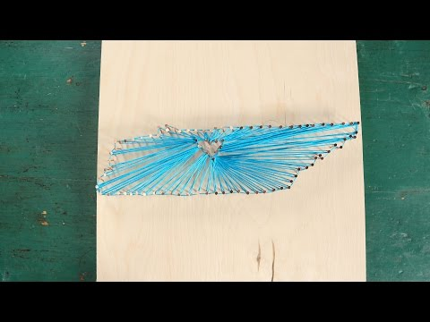 Foam board state string art tutorial video state string art southern living freerunsca Images