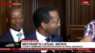 Moyane's legal woes | Court dismisses his application to have job back thumbnail