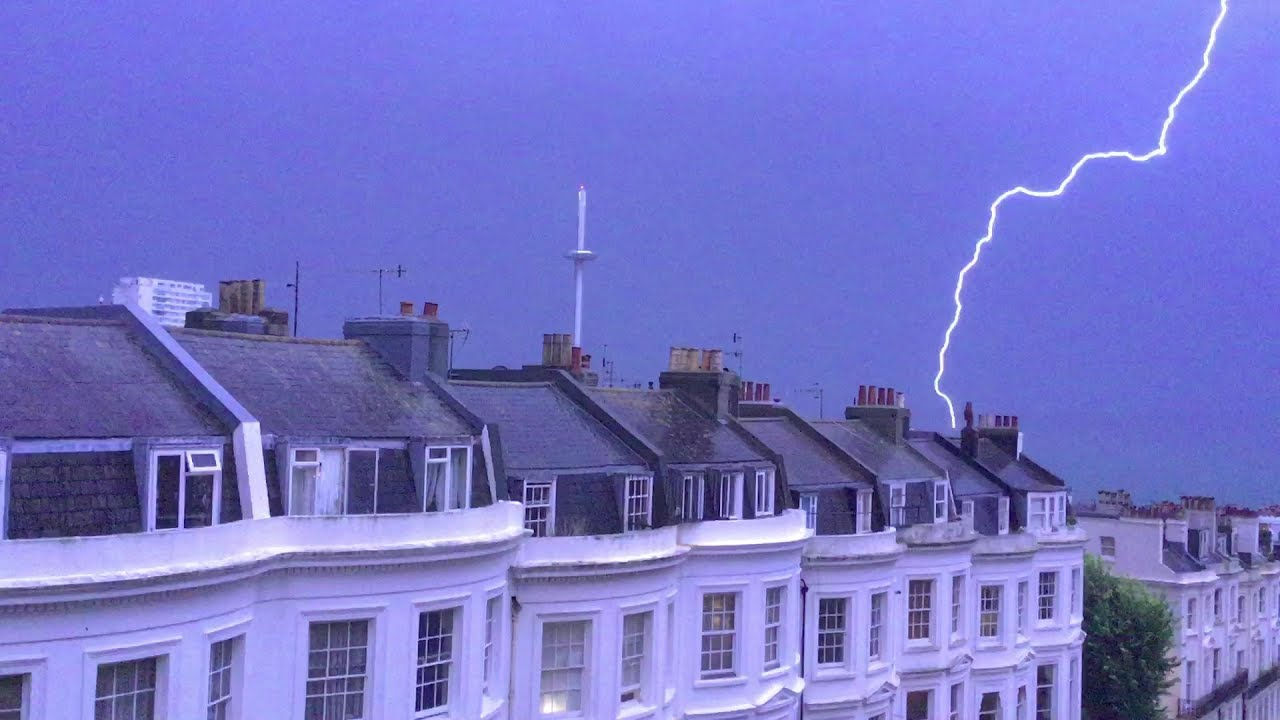 Thunder and Lightning in Brighton 18.07.2017