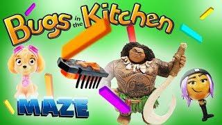 Bugs In the Kitchen Game Maze w/ Maui, Skye, Jailbreak, Golden Grape & Pinkie Pie!