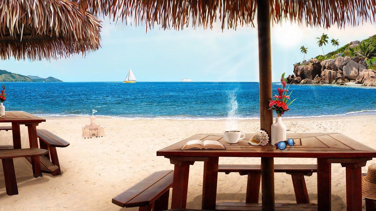Beach Cafe Ambience: tropical music, ocean waves, & no worries!