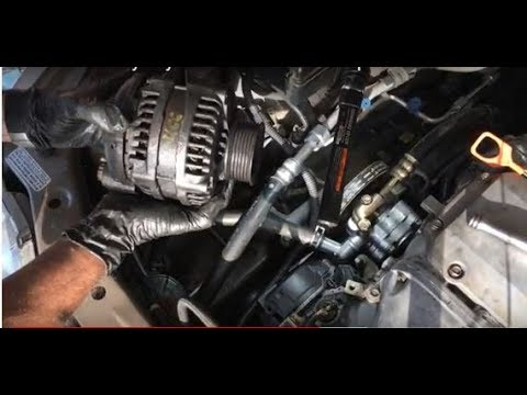 2004 honda odyssey alternator removal replacement without removing rh youtube com