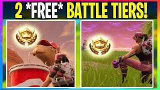 *NEW* Fortnite: *FREE* 2 Battle Star Locations For FREE Battle Tiers (Fortnite Battle Royale Leaks)