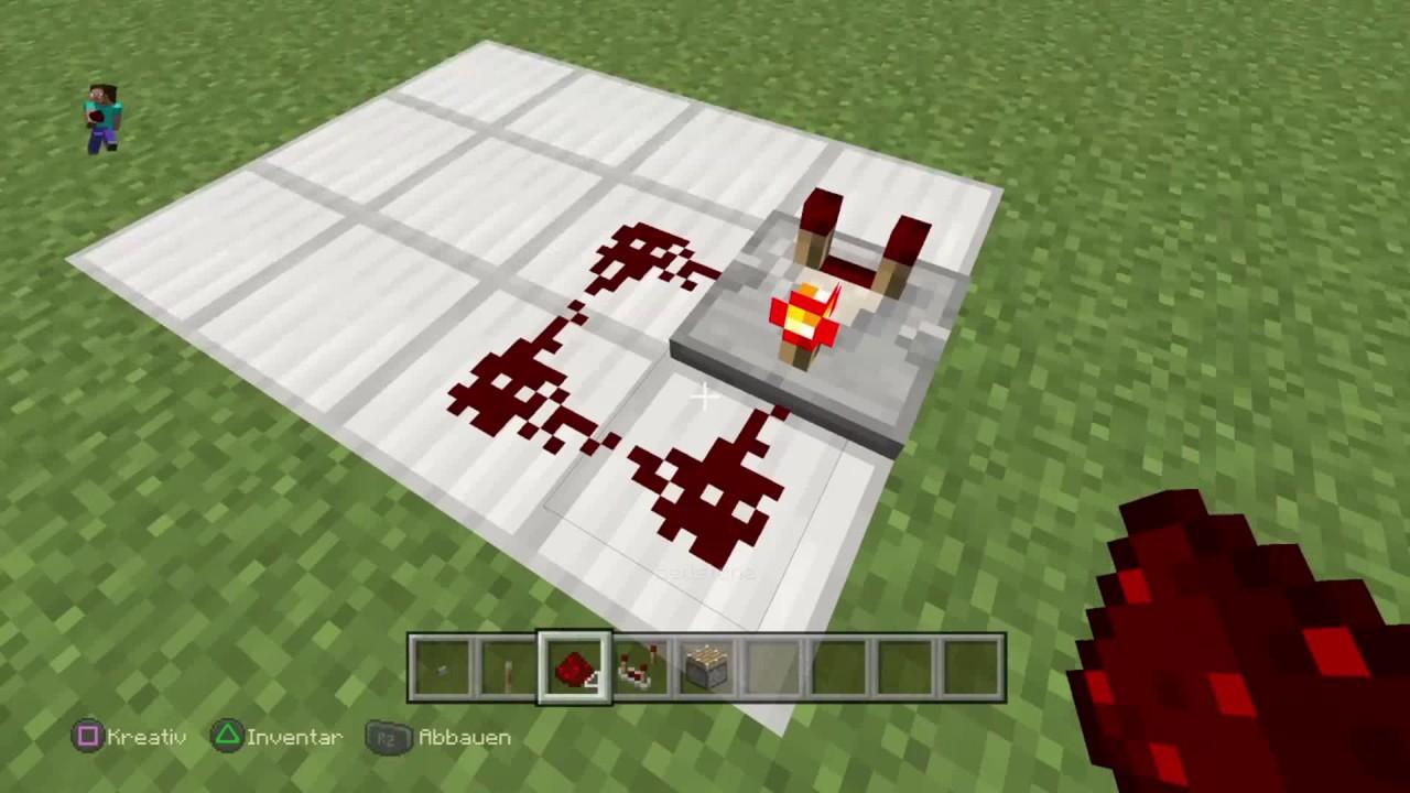 Minecraft-Tutorial : Wie erstelle ich eine Redstone-Clock / Deutsch