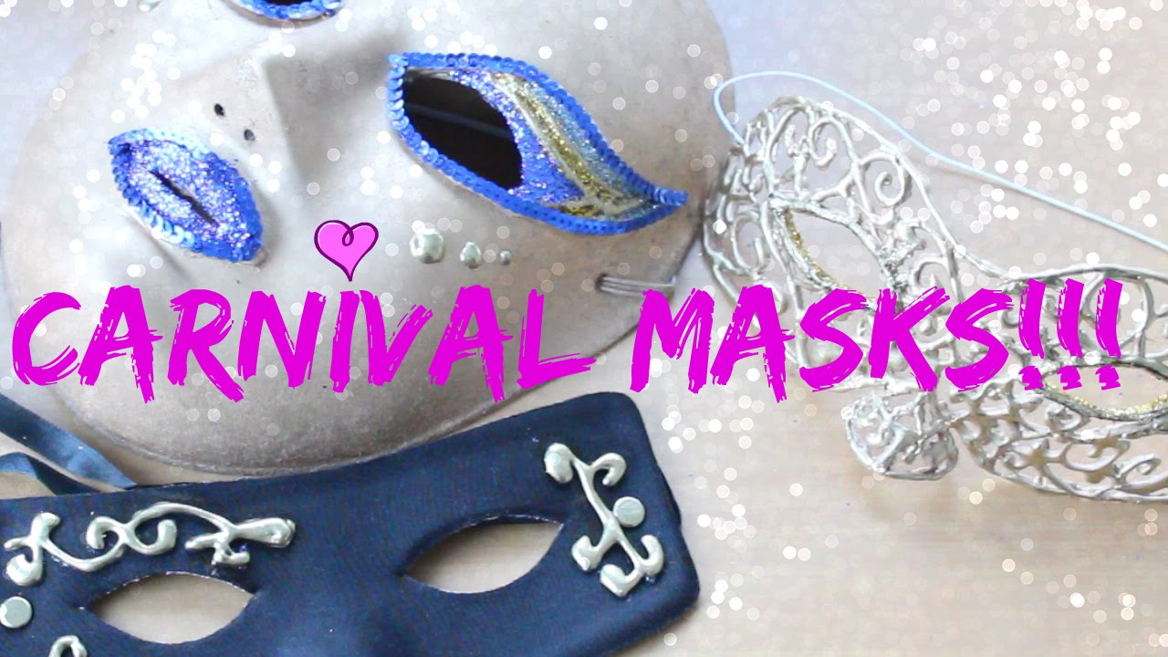 diy_máscaras para carnaval / carnival masks. como hacer máscaras de