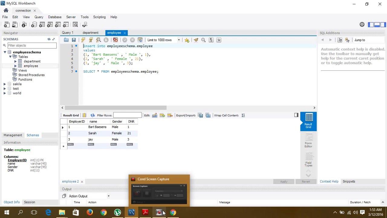 mysql workbench tutorial 1 youtube rh youtube com MySQL Workbench Icon MySQL Workbench Features