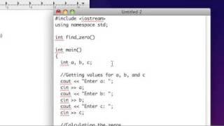 C++ المهارات الأساسية: الدرس 03 ''خلق الوظائف مع الصيغة التربيعية'' (الجزء 1 من 2)
