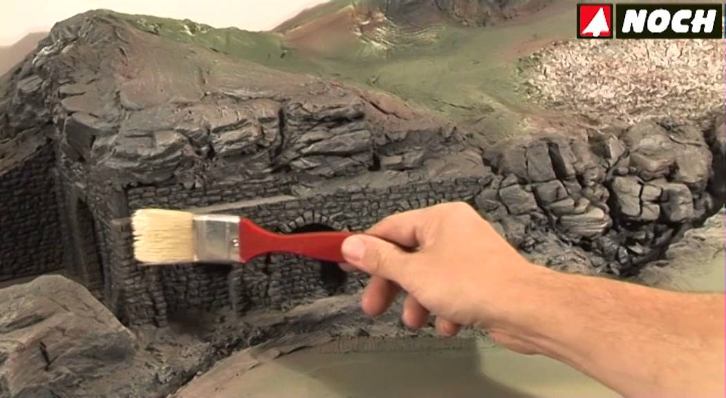 Noch Modellbau Highlighten Und Bemalen Von Felsen Youtube