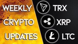 Exciting News For TRON TRX, XRP & Litecoin