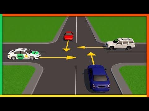 видео: Нерегулируемые перекрестки равнозначных дорог
