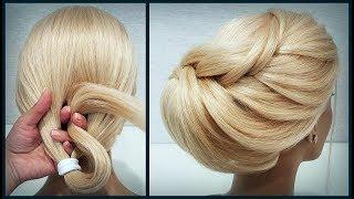 Красивые прически пошагово, Свадебная прическа. Объемная коса. Beautiful hairstyles step by step