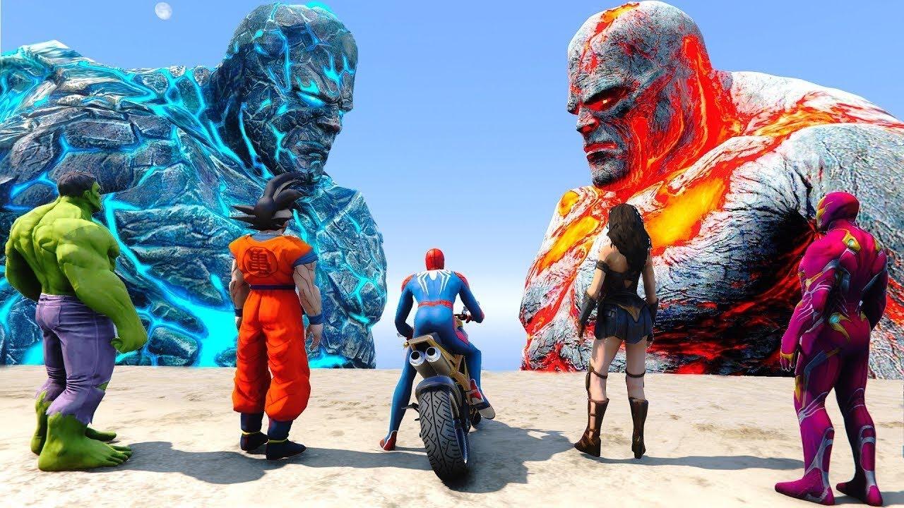 SpiderMan FOUND Biggest Titans Perses, Oceanus - GTA 5 MODS