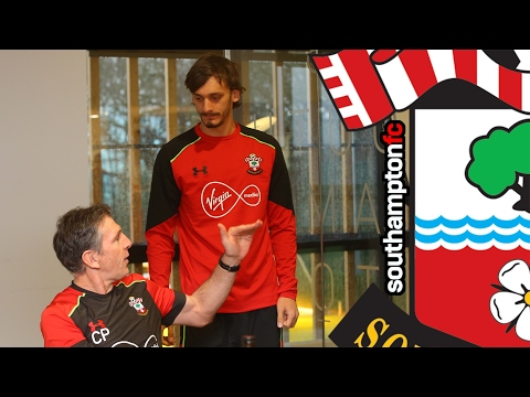 Gabbiadini and Hassen's first day with Southampton