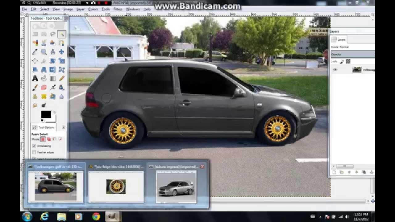Virtual Tuning Car Golf 4 Make In Gimp Youtube