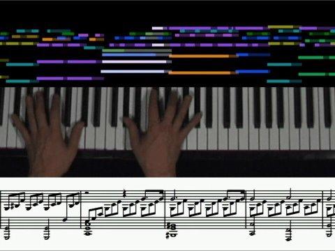 Beethoven - Moonlight Sonata (animated score, 1st mvt.) piano solo
