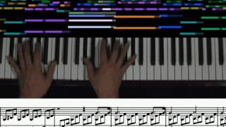 (Animasyonlu score, 1st mvt.) Beethoven - Moonlight Sonata piyano solo