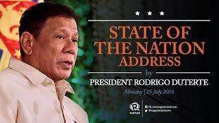 Live: President Duterte's State of the Nation Address (SONA) 2016