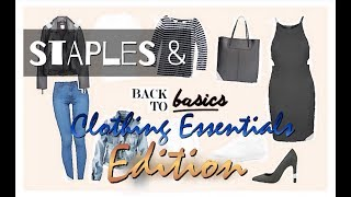 STAPLES & BASICS | Clothing Edition | Must-HAVES | WHAT to buy | Inexpensive Suggestions | FASHION