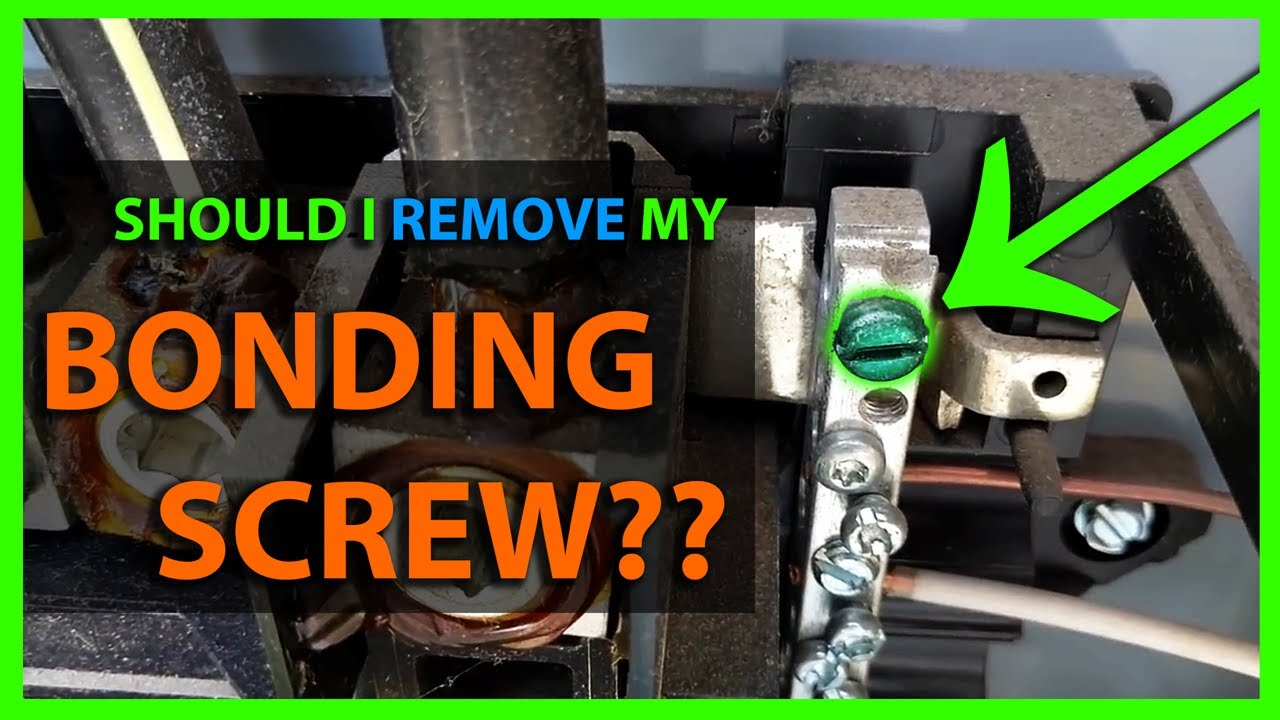 small resolution of what is a neutral bonding screw in a main or sub panel load center should it be used or removed