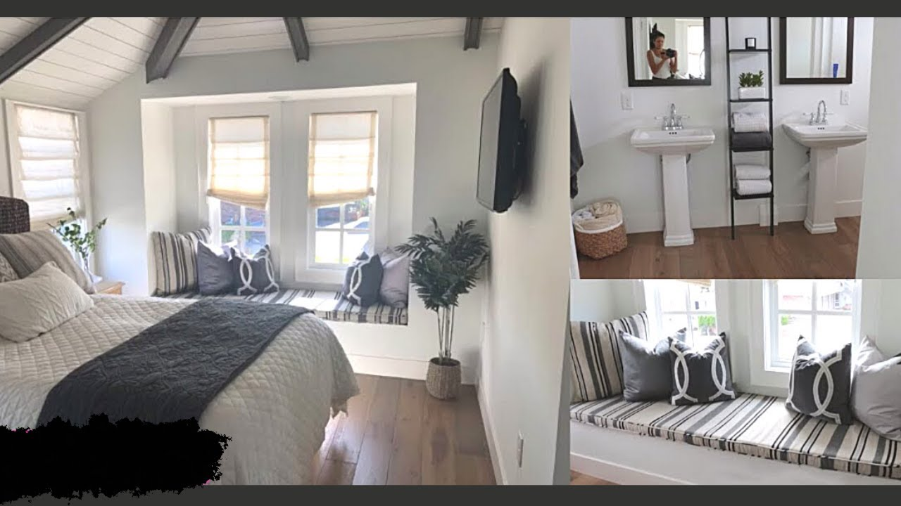 Small Bedroom And Bathroom Transformation Room Tour Youtube
