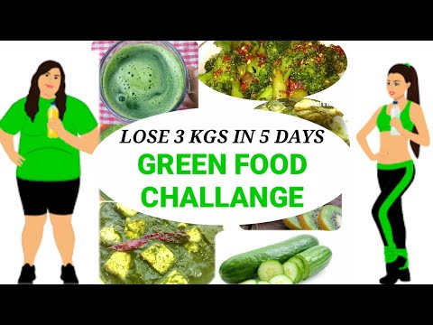 EATING GREEN FOOD CHALLANGE FOR WEIGHTLOSS & FLAT STOMACH | Lose 3 Kgs In 5 Days |Rimi's Lunch Box