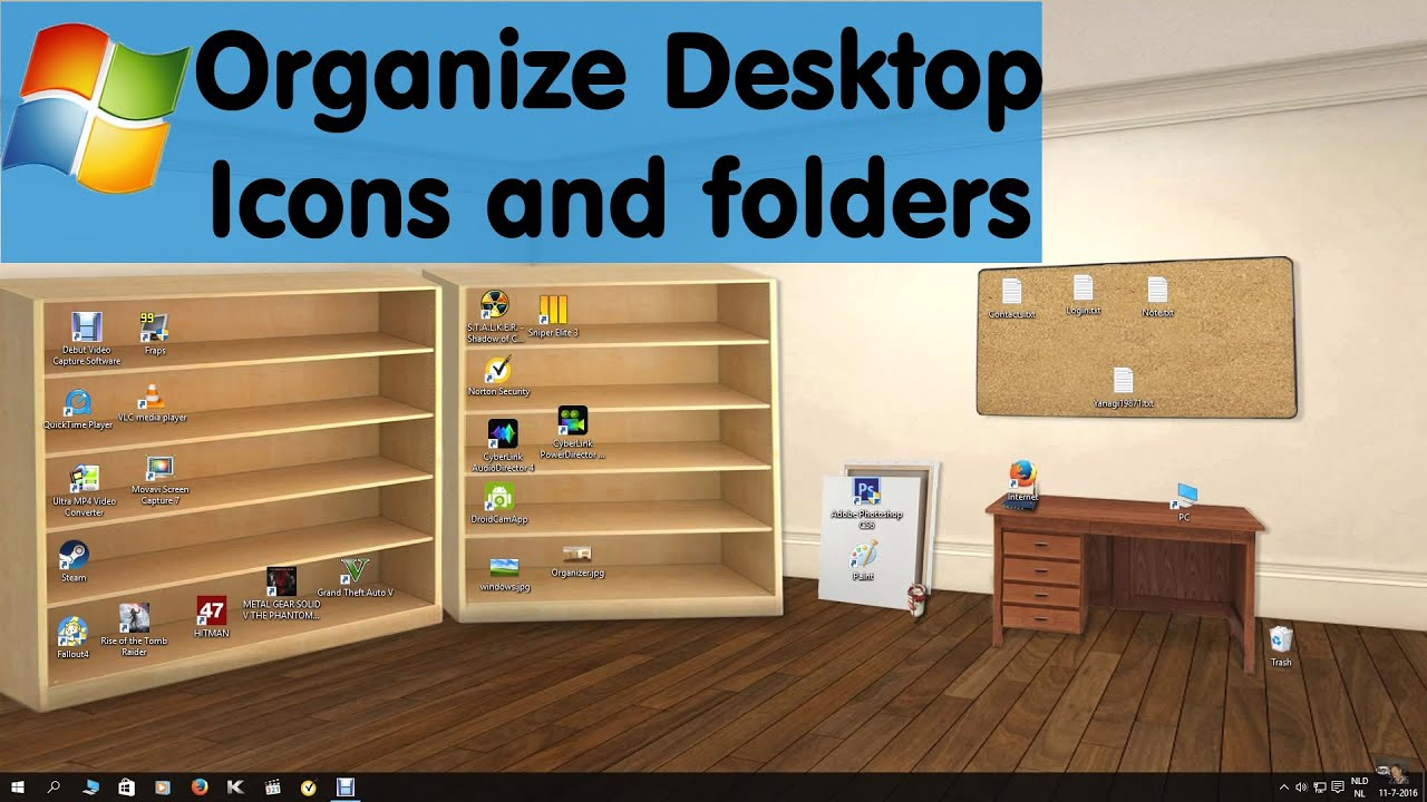 Best Windows 10 Desktop Organizer Wallpaper Ever
