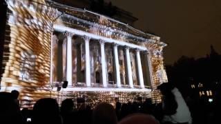 Световое шоу  29 апреля 2016 г. на площади Островского в Санкт-Петербурге.