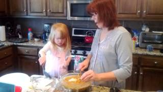 Mimi And Lucy Make Morning Glory Muffins.