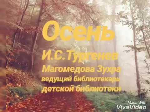Изображение предпросмотра прочтения – ЗухраМагомедова читает произведение «Осень.» И.С.Тургенева