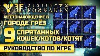 Destiny 2 | 9 спрятанных статуэток кошек | Город Грёз
