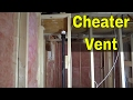Cheater Vent For Plumbing-How It Works (AKA Air Admittance Valve)