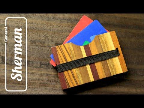 Футляр для кредитных карт (кардхолдер) из дерева