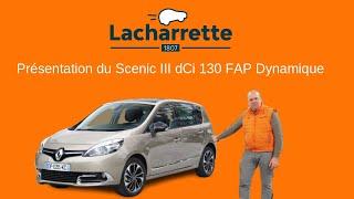 Présentation  Renault Scenic III dCi 130 FAP Dynamique vo 22580