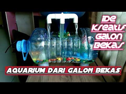 Cara Membuat Aquarium Dari Galon Bekas Aquarium Dari Barang Bekas Youtube