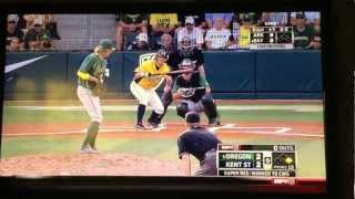 Kent St College World Series final batter