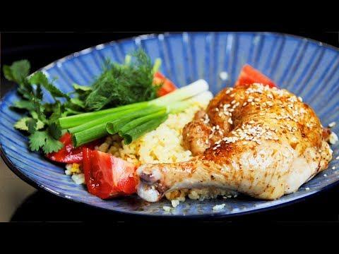 Курица в духовке. Банально и просто. Запечные куриные ножки в духовке с рисом.