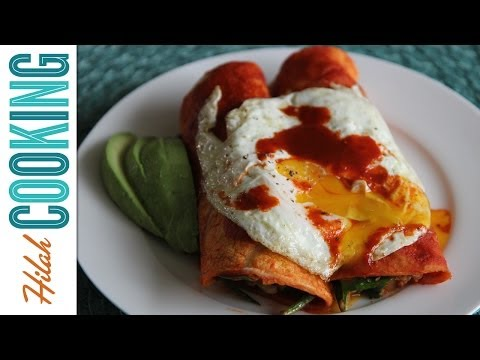 How to Make Breakfast Enchiladas   Hilah Cooking