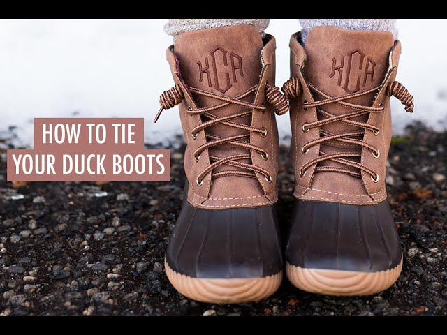 How To Tie Your Duck Boots! - YouTube