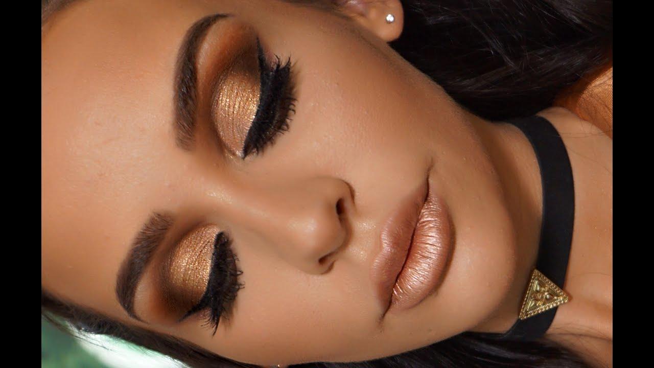 Golden Metallic Makeup Tutorial Carli Bybel Youtube