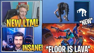 "Streamers Reacts TO NEW ""Floor Is Lava"" LTM & Spring-Loaded Emote! *RARE* (Fortnite Best Moments)"