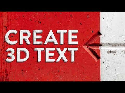 ILLUSTRATOR TUTORIAL | How to Create a 3D Text Effect Using Blends thumbnail